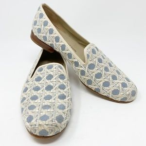 Stubbs & Wootton | Cane Weave Loafer Flats | 8.5